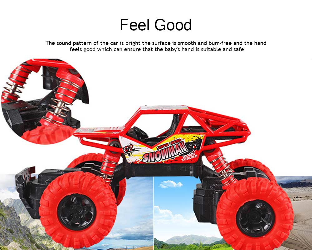 Off-road Vehicle Children's Toy Car, Q Version Cartoon Simulation Spring Shock Big Foot Four Wheel Climbing Car 4
