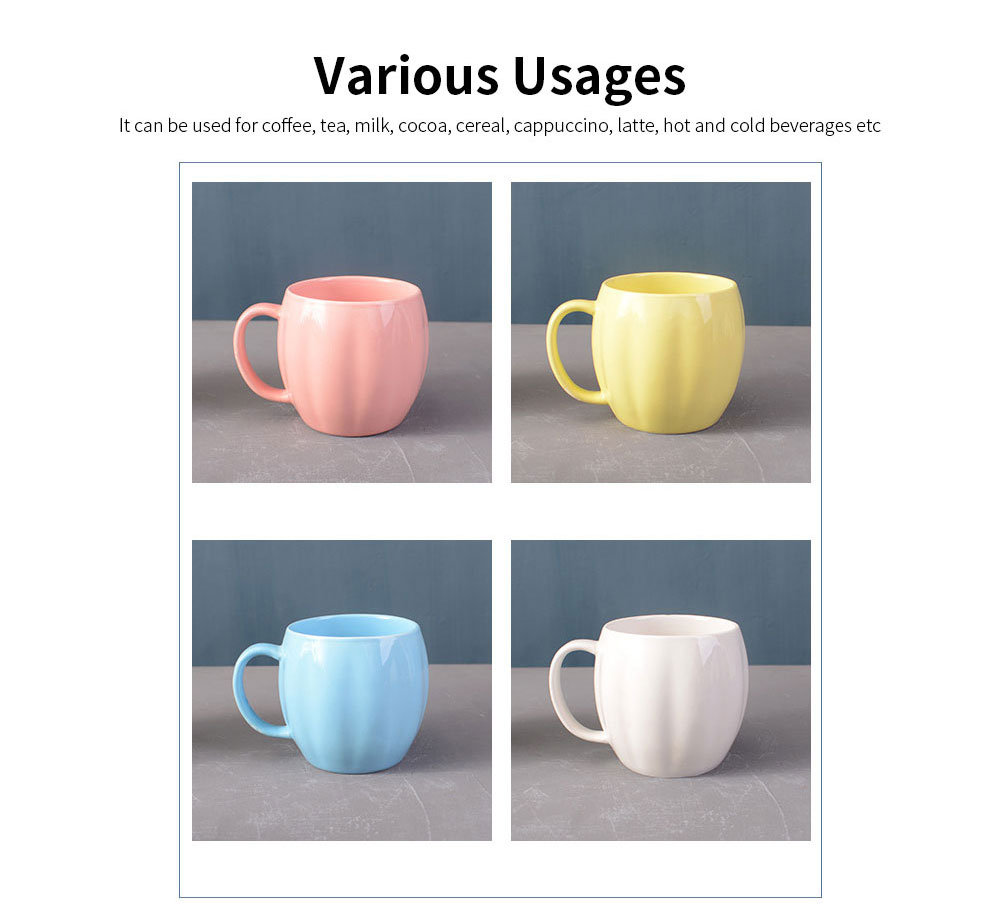Kitchen Porcelain Mugs, Premium Plain Gloss White Ceramic Coffee Mug Milk Cups with 4 colors 5