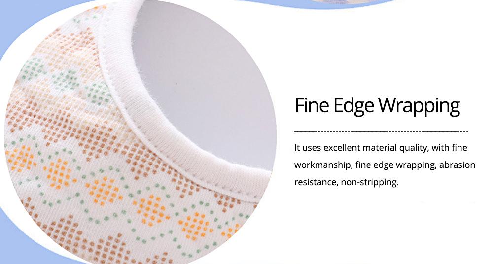 Baby's Double-layer Pure Cotton Waterproof Flower Bib, 360° Rotating Children's Saliva Towel 4