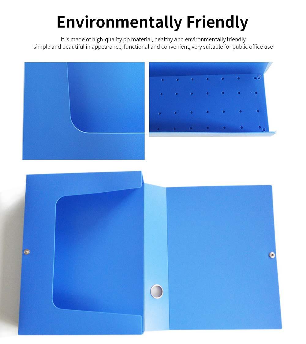 A4 Plastic File Folder, Blue Hanging File Folders, 2.1inch 4