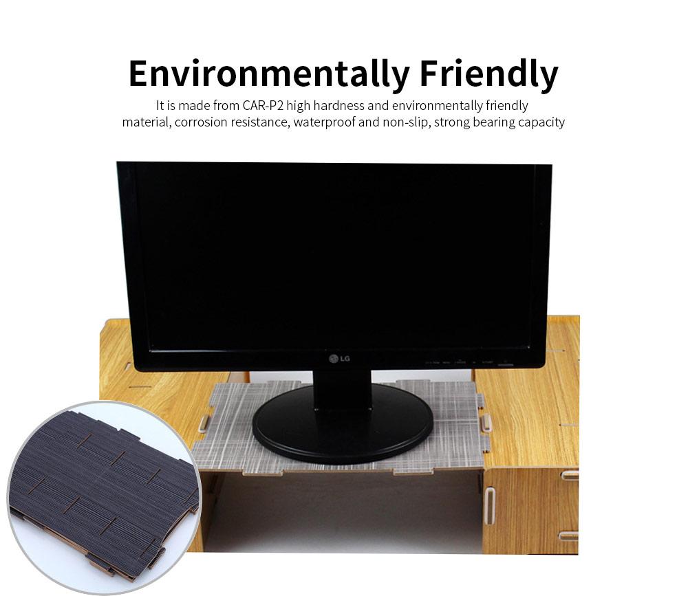 A4 Wooden File Folder, Wooden Board Notepad Desktop Document Holder 1