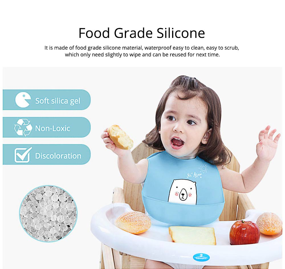 Best Baby Bibs For Eating, Wash-Free Silicone Baby Feeding Bib 3