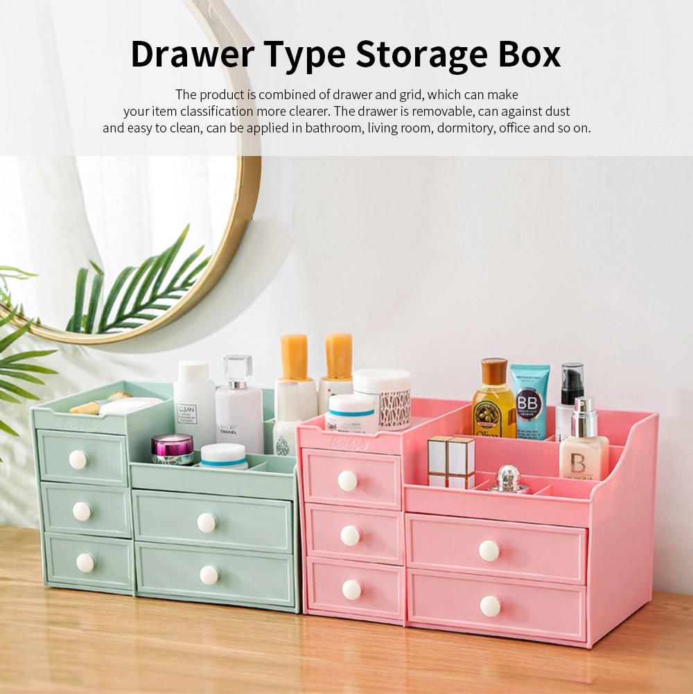 Drawer & Makeup Storage Organizer for Desk, Mask Lipstick Makeup Tools Organizer 0