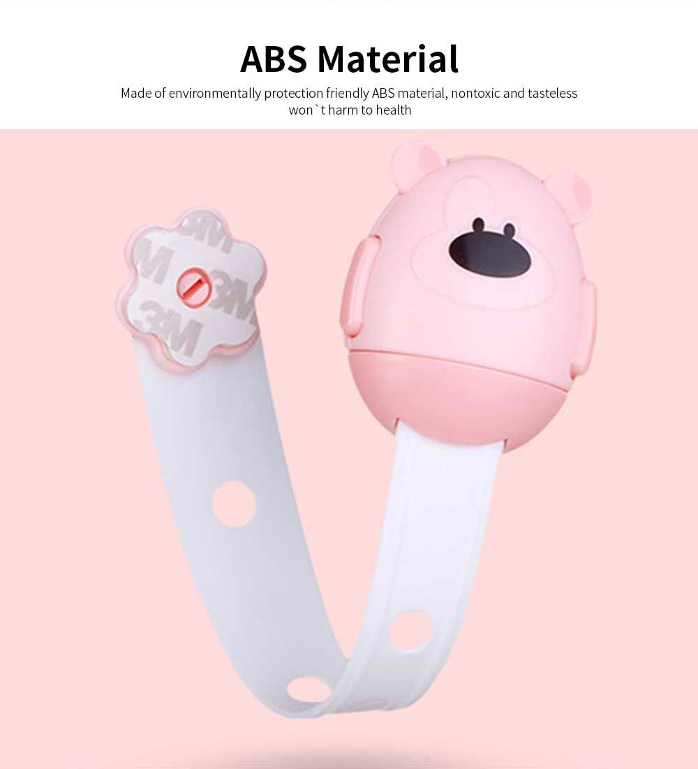 Cute Bear Shape Baby Safety Latch for Cabinets, Drawers, Refrigerator, Oven, Universal Corner Guards Safety Lock 2