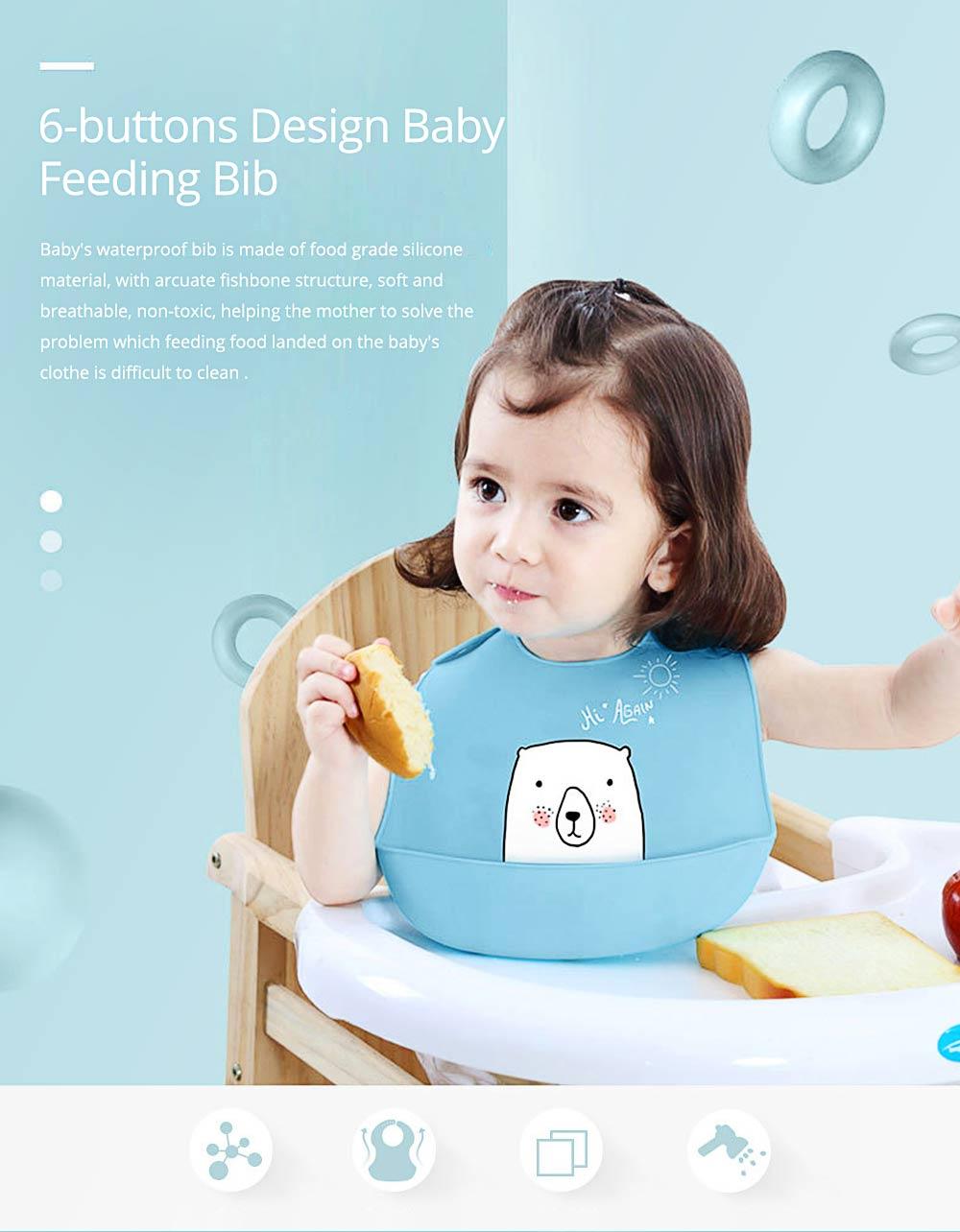 Best Baby Bibs For Eating, Wash-Free Silicone Baby Feeding Bib 0