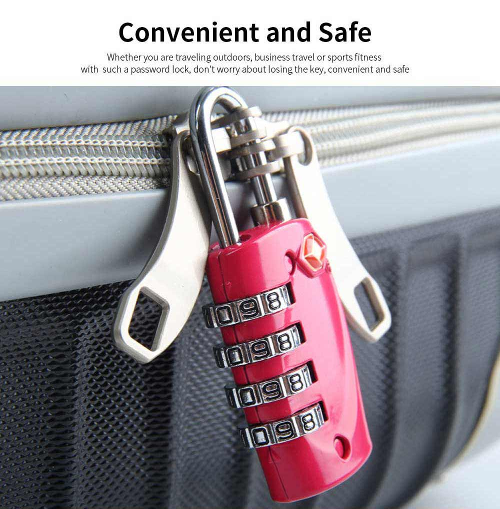 Luggage Locks with 4 Digit Combination for Travel, Baggage, Suitcases & Backpacks 2