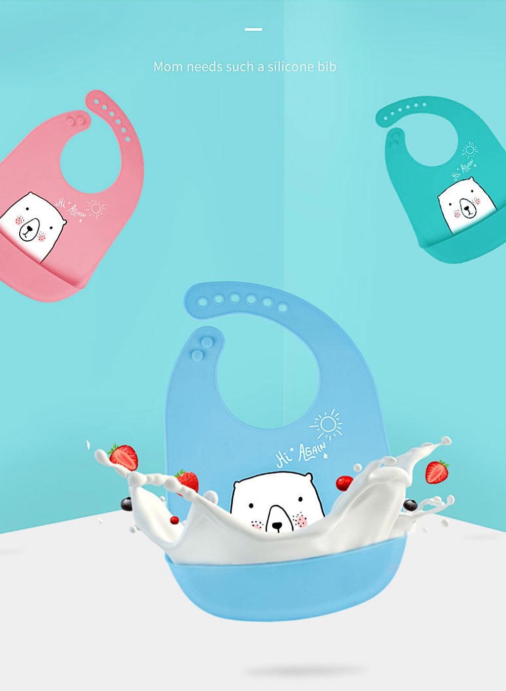 Best Baby Bibs For Eating, Wash-Free Silicone Baby Feeding Bib 1