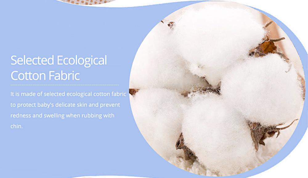 Baby's Double-layer Pure Cotton Waterproof Flower Bib, 360° Rotating Children's Saliva Towel 5