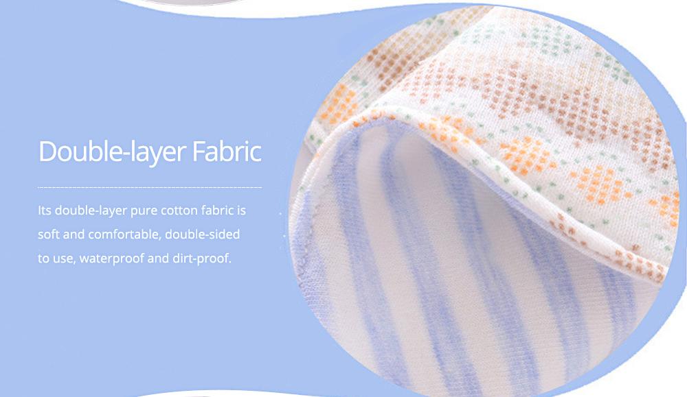 Baby's Double-layer Pure Cotton Waterproof Flower Bib, 360° Rotating Children's Saliva Towel 3