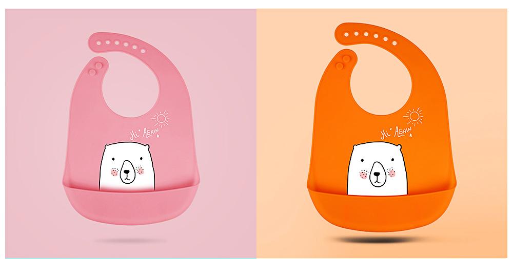 Best Baby Bibs For Eating, Wash-Free Silicone Baby Feeding Bib 11