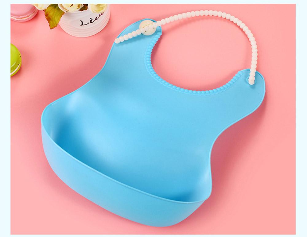 Soft PEVA Waterproof Baby's Bib, Breathable Pocket Groove Bib for Baby 7