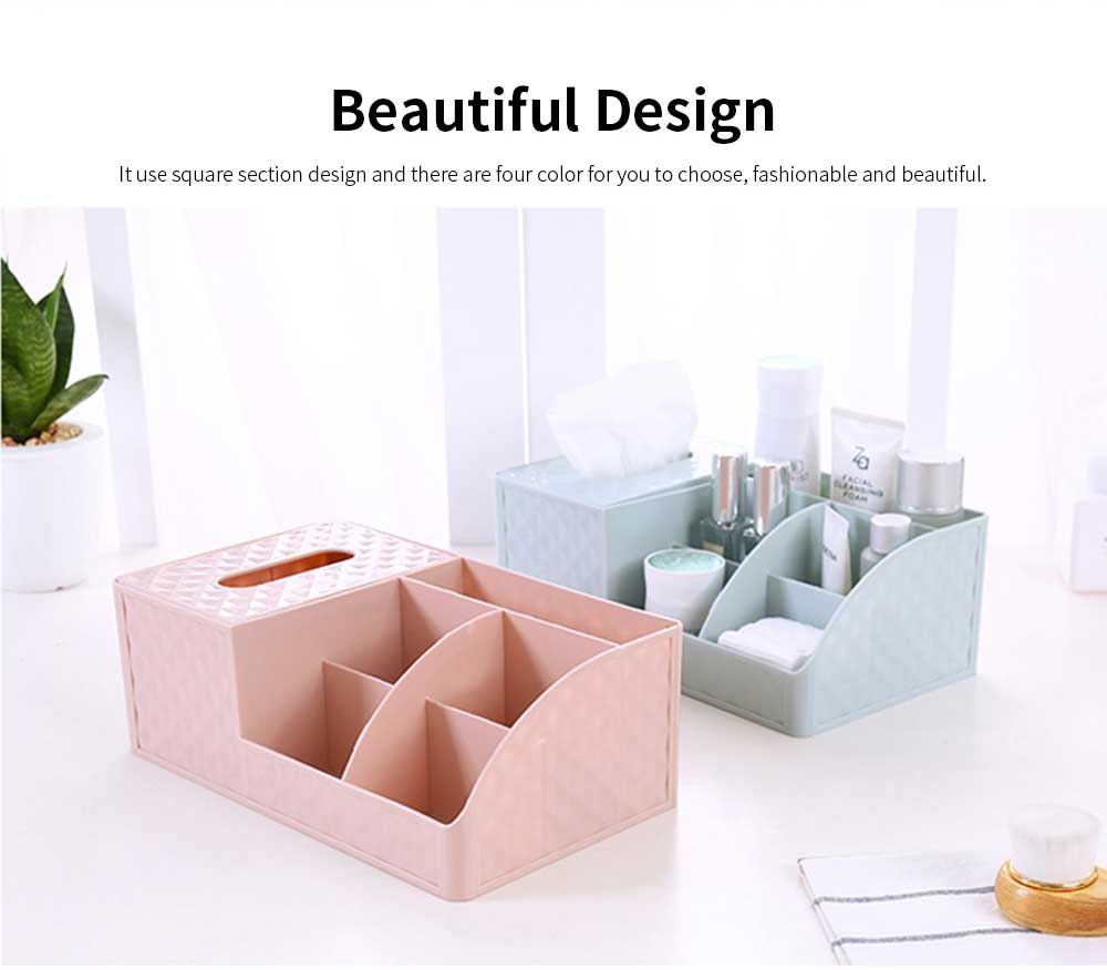 Office Desktop Makeup Organizer, Sundries Table Napkin Box Storage Holder 1
