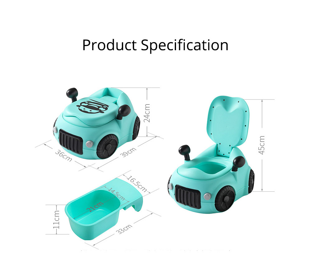 Baby Potty Car, XL Children'S Toilet For Boys And Girls, With High Back Ridge Design 9