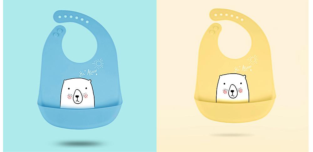 Best Baby Bibs For Eating, Wash-Free Silicone Baby Feeding Bib 12