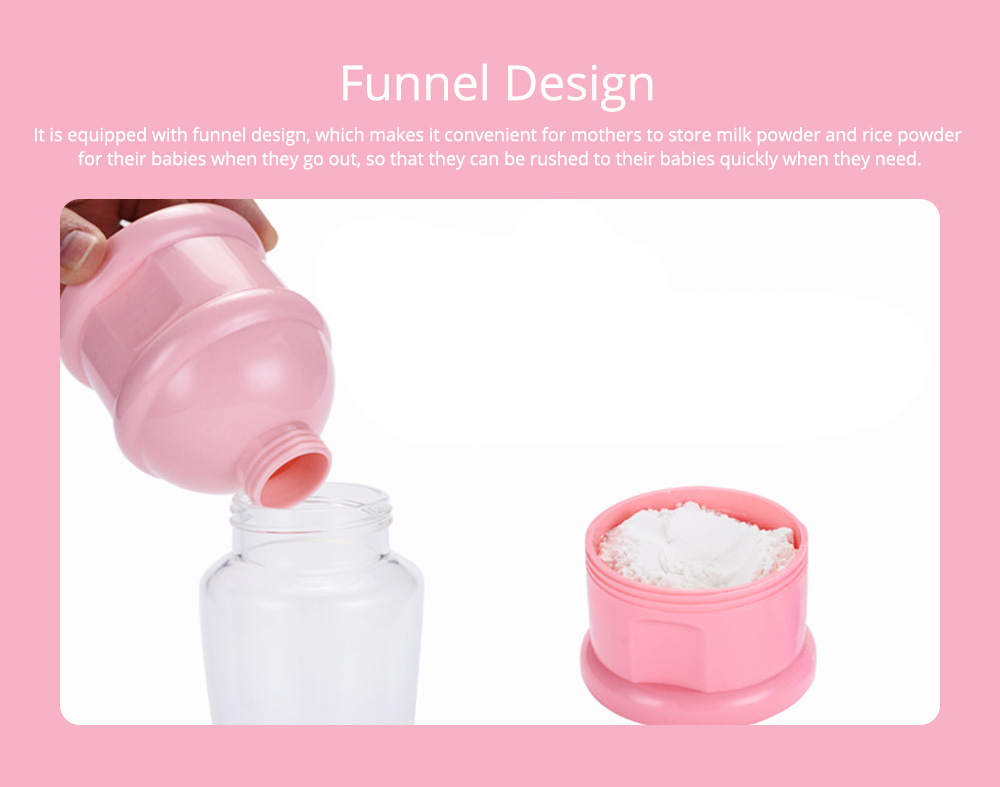Baby Portable 3-layer Milk Powder Box with Wristband and Spiral Twist Design 3