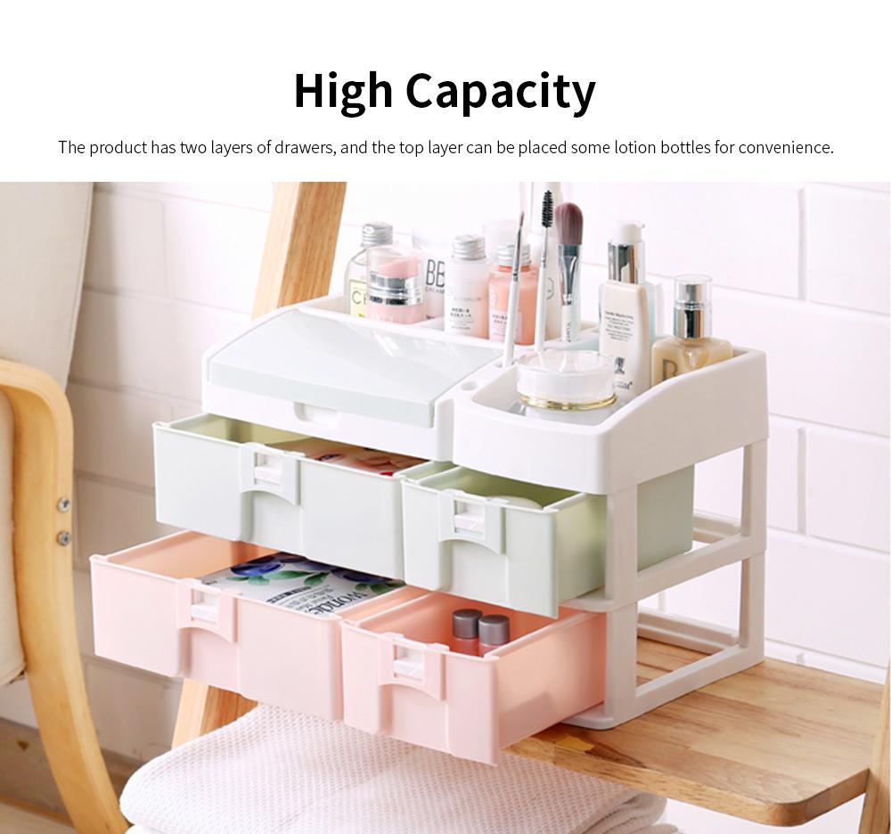 Desktop Dresser Jewelry Lipstick Makeup Organizer Holder, Drawer Type Storage Box for Cosmetic Skin Care Stuff 1