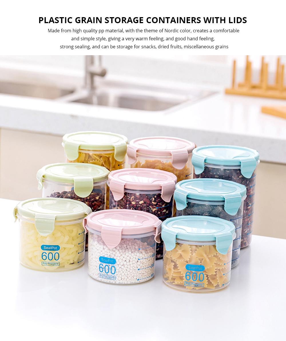 Clear Plastic Food Storage Containers With Lids, Transparent Snack Storage Containers Airtight 0