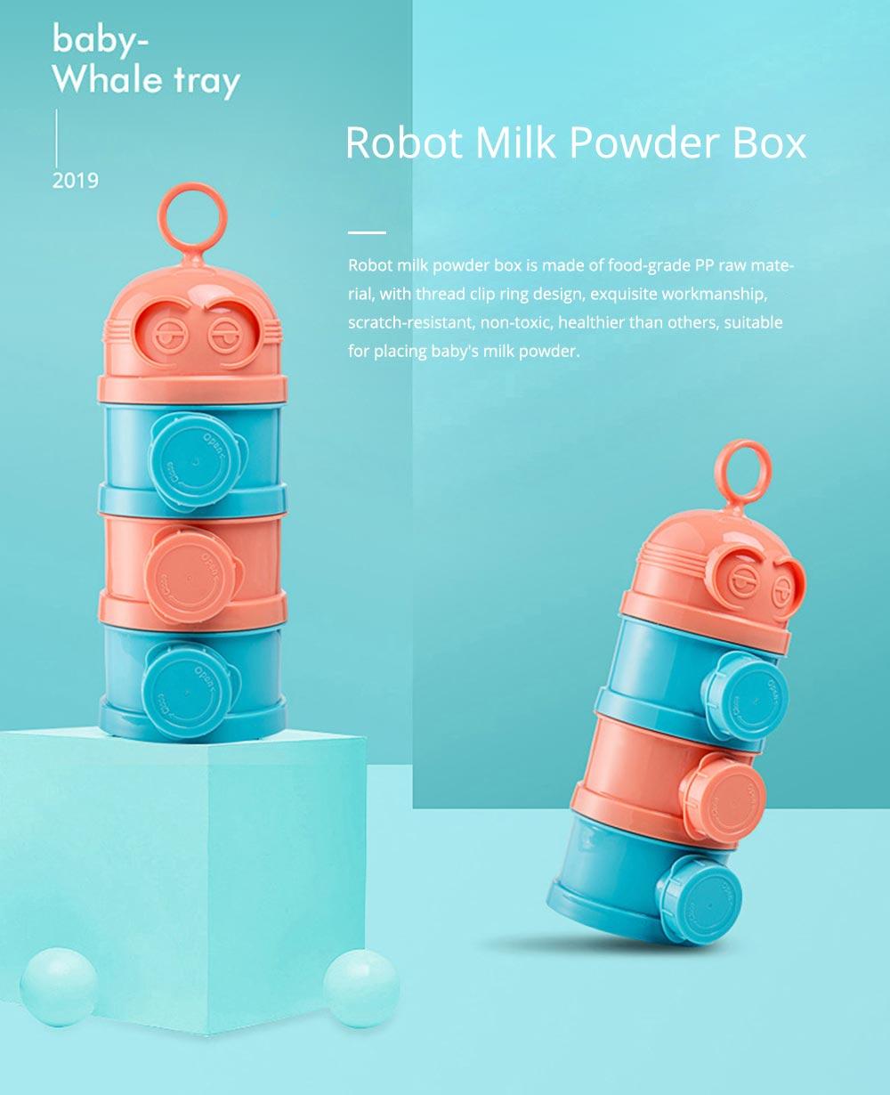 Baby Milk Powder Storage Container, 3 Layers Portable Formula Storage Box 0