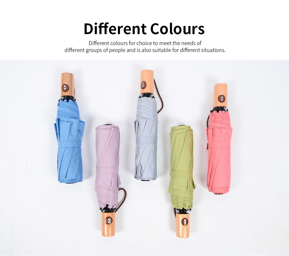 Automatic Open Close Umbrella, Triple Folding Umbrella With Strong Windproof 4