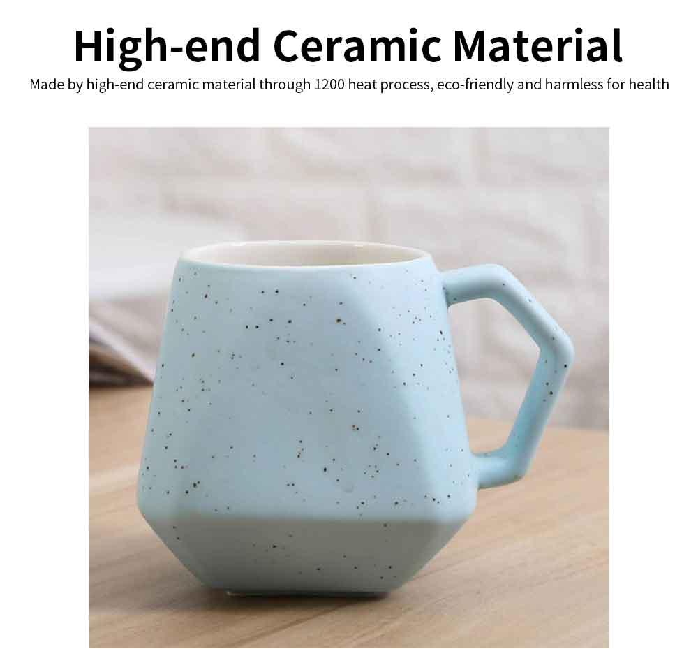 Polygonal Style Ceramic Coffee Milk Mugs, Colorful Stylish Porcelain Mugs 4