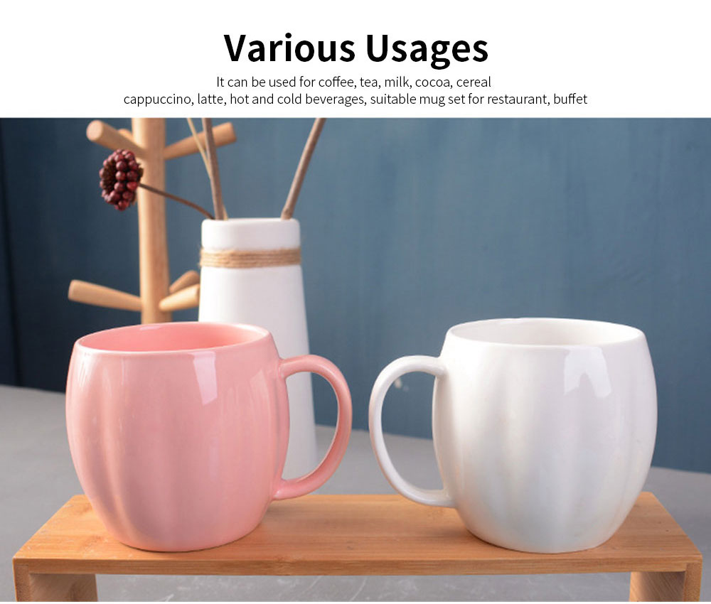 Kitchen Porcelain Mugs, Premium Plain Gloss White Ceramic Coffee Mug Milk Cups with 4 colors 2