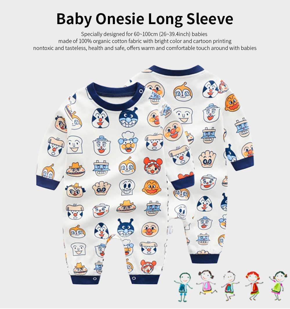 Best Organic Cotton Baby Onesies, 2019 Autumn Baby Long Sleeve Onesies 0