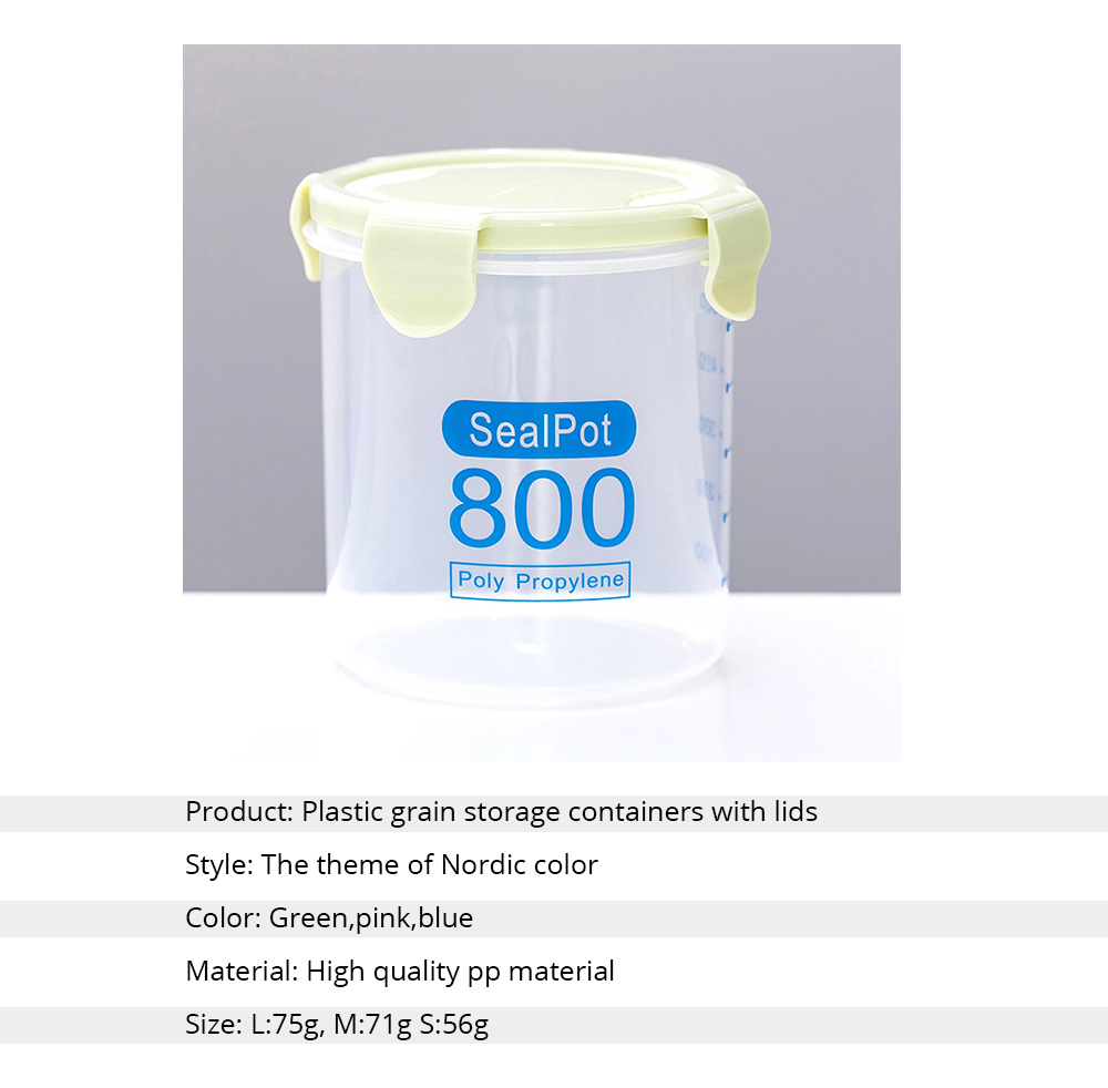 Clear Plastic Food Storage Containers With Lids, Transparent Snack Storage Containers Airtight 6