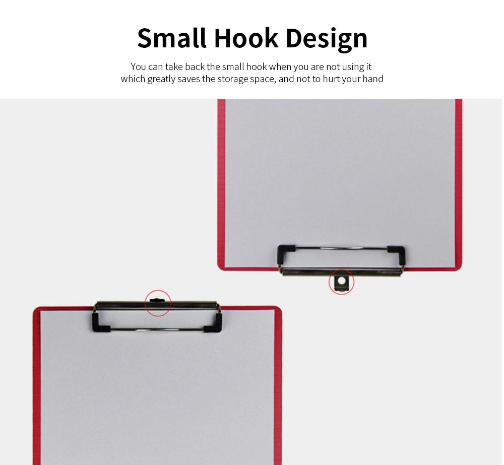 A4 Wooden File Folder, Wooden Board Notepad Desktop Document Holder 2