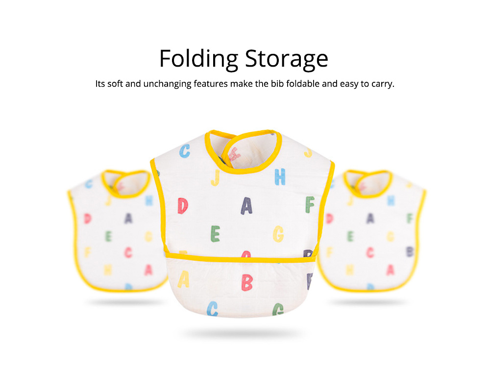 Waterproof Feeding Bib for Baby, Ecological Cotton Fabric Baby's Feeding Disposable Bib 2