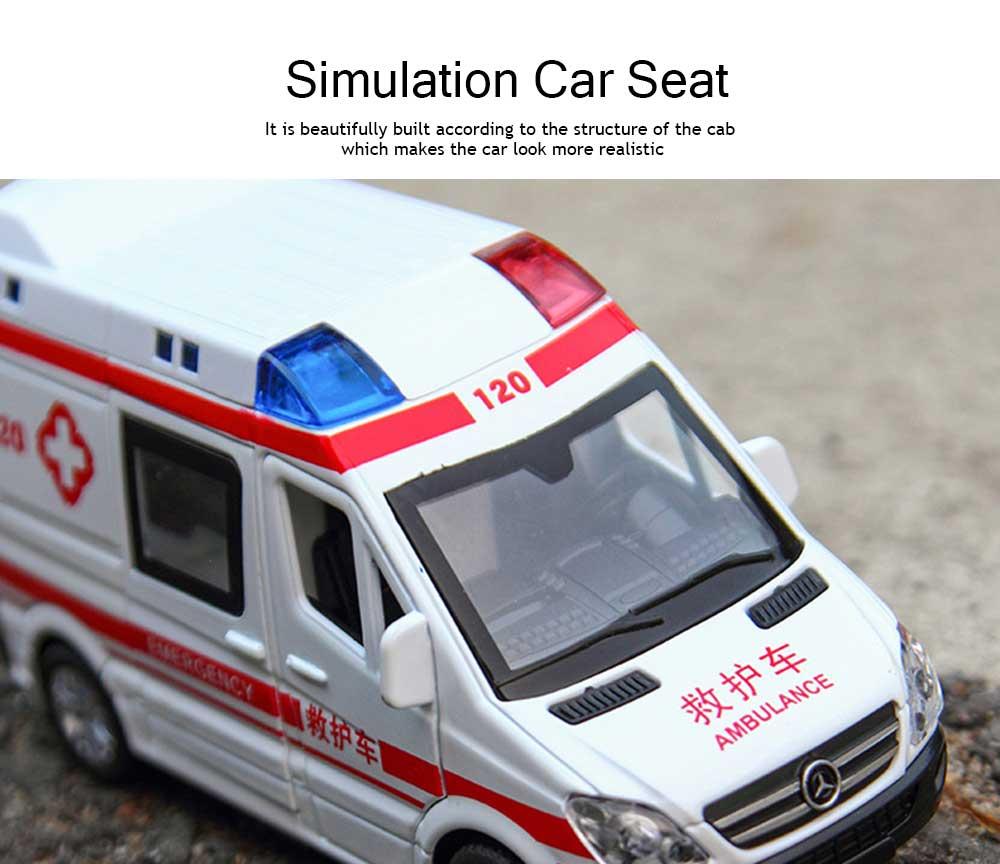 Simulation Children's Toy Car, Toy Ambulance, Police Car, Pull Back Car 1