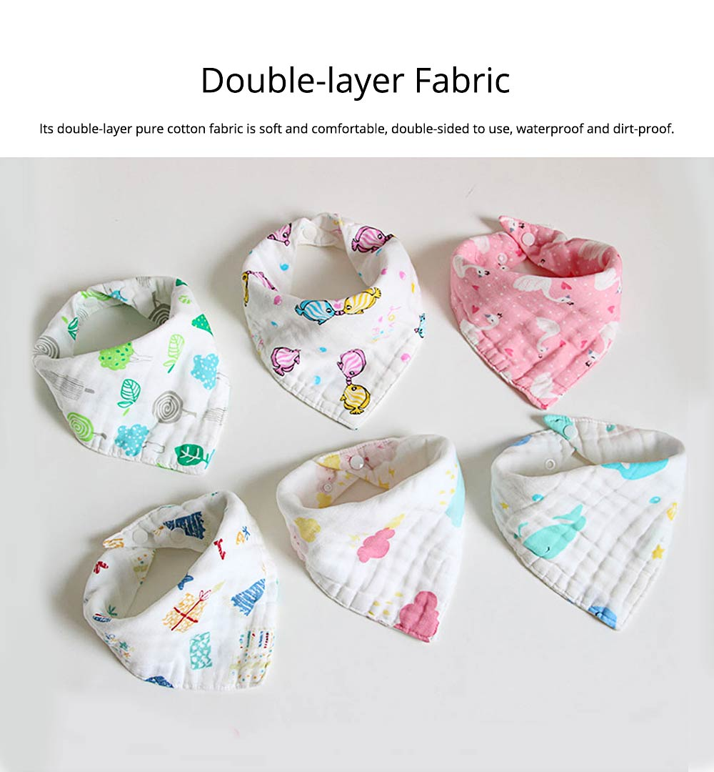 Cotton Baby Bibs For Boys, Multi-Purpose Triangle Towel With Lovely Cartoon Pattern 7