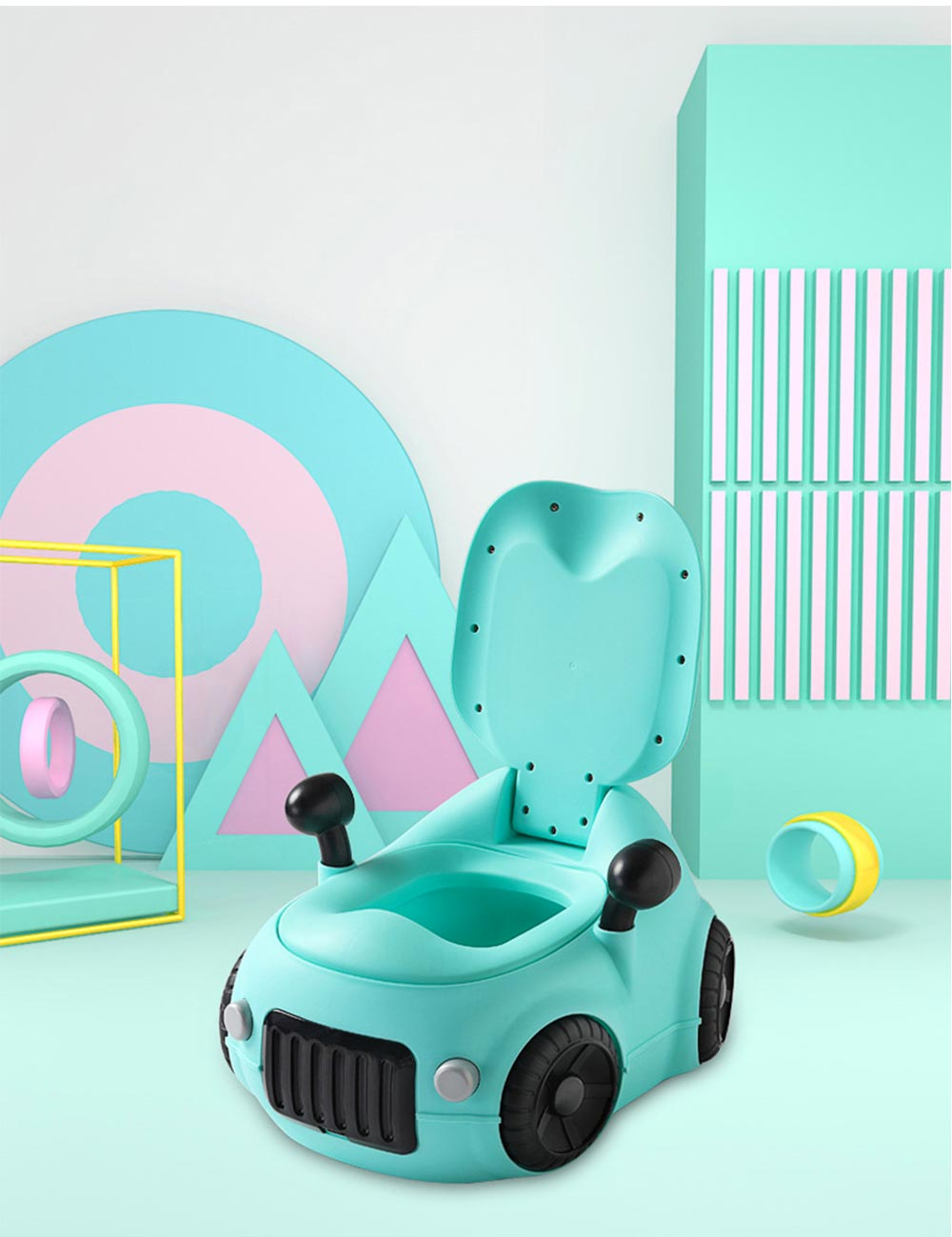 Baby Potty Car, XL Children'S Toilet For Boys And Girls, With High Back Ridge Design 3