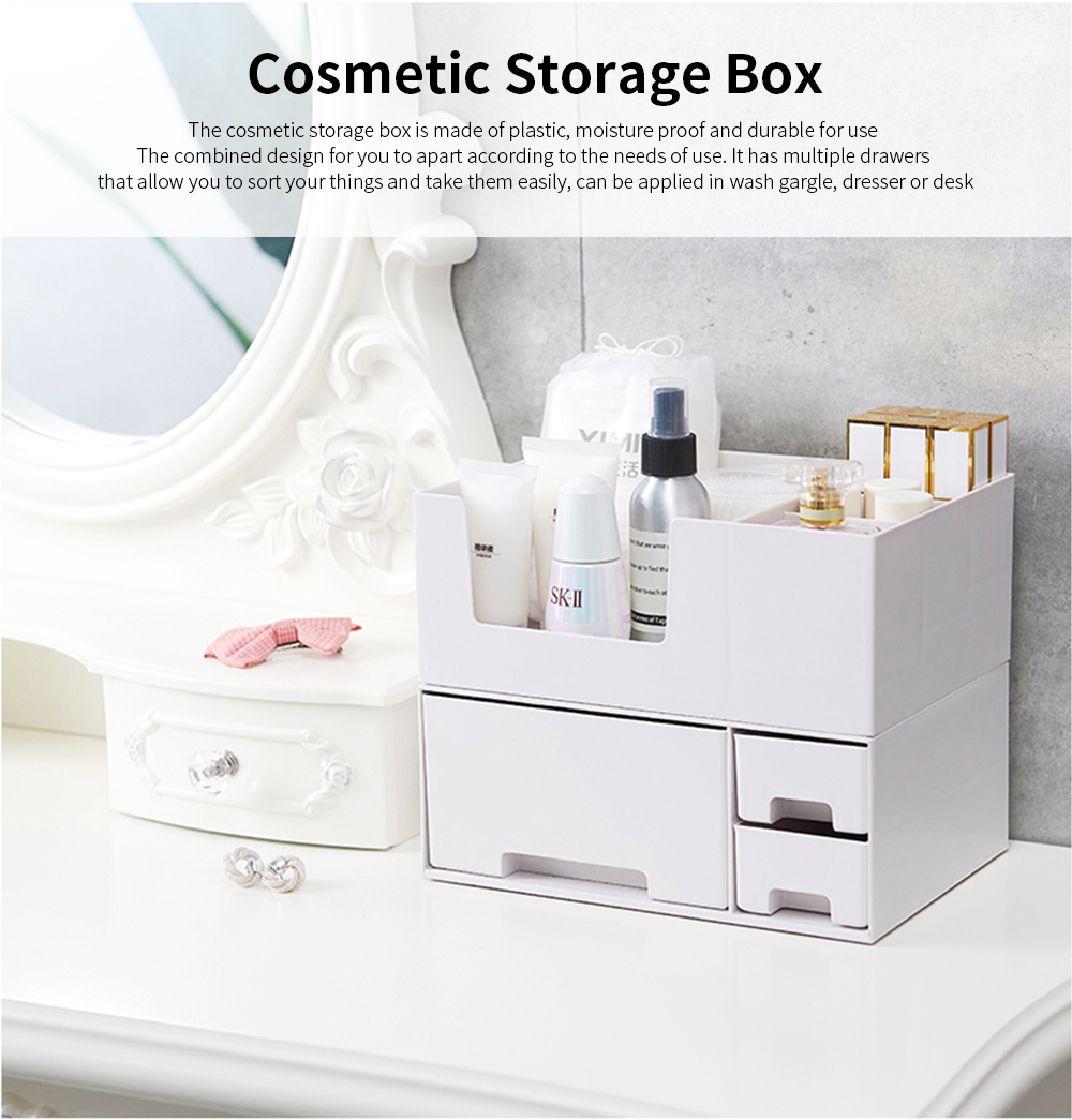 Makeup Desktop Organizer Rack, Storage Box for Lipstick Cosmetic Skin Care Product 0