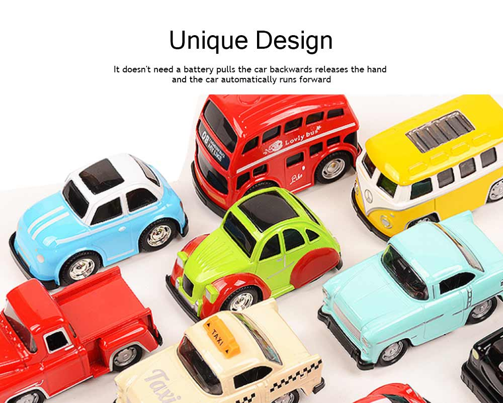 Toy Car Set For Toddlers, Pull Back Car, Alloy Puzzle Car, Mobilization Q Version Mini Car 4