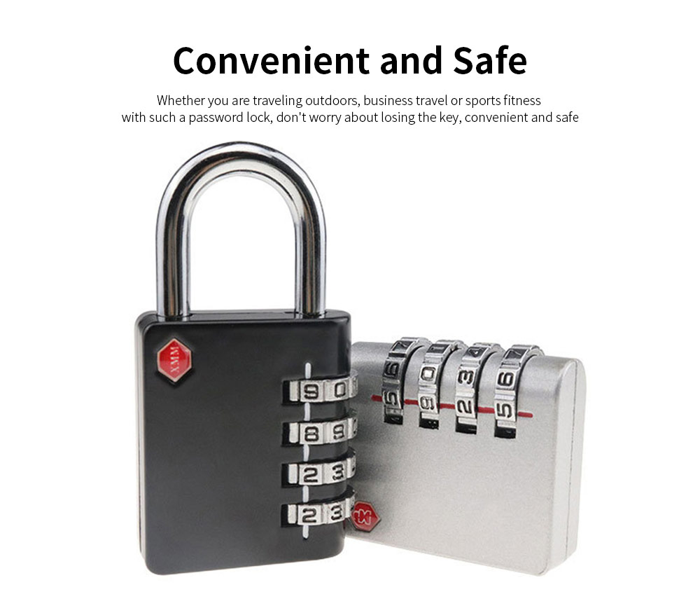 Zinc Alloy Password Lock For Suitcase, Gym Student Dormitory Drawer Cabinet Anti-Theft Password Lock 2