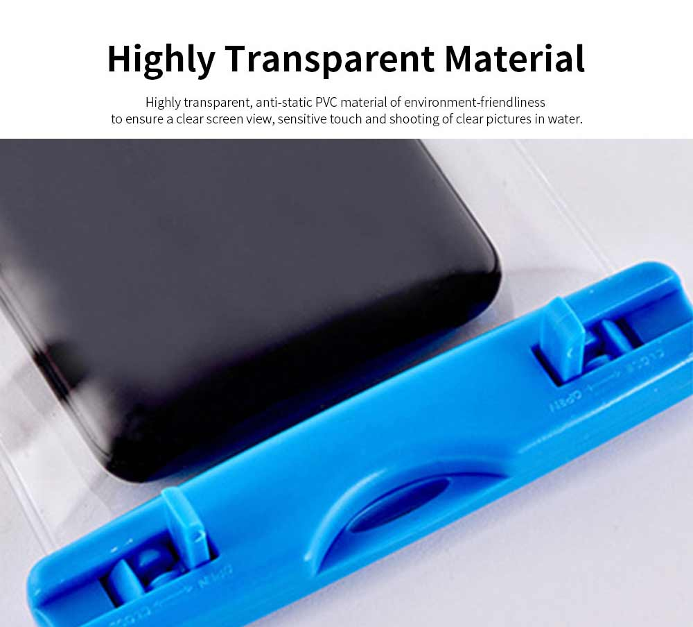 Waterproof Phone Case For Swimming, Transparent PVC Smart Phone Case 6-Inch 2