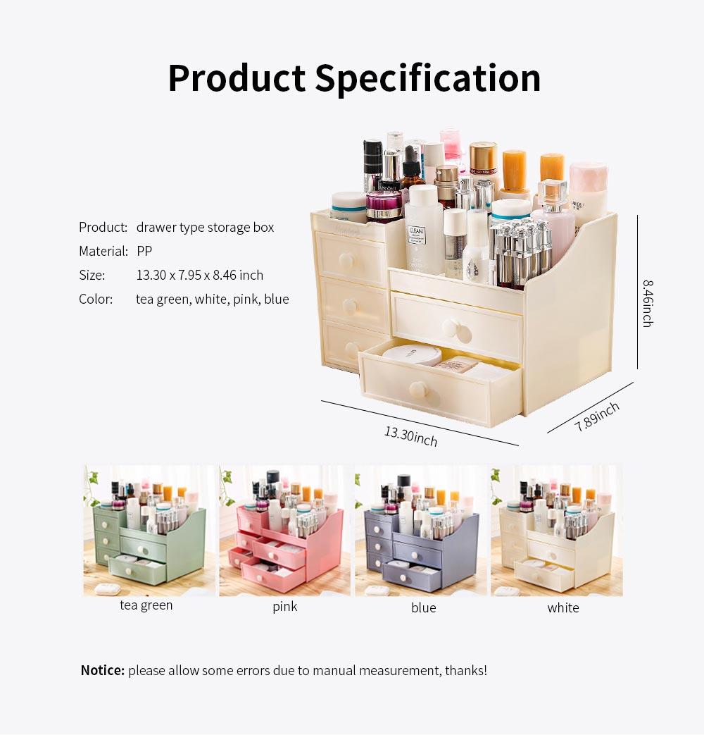 Drawer & Makeup Storage Organizer for Desk, Mask Lipstick Makeup Tools Organizer 6