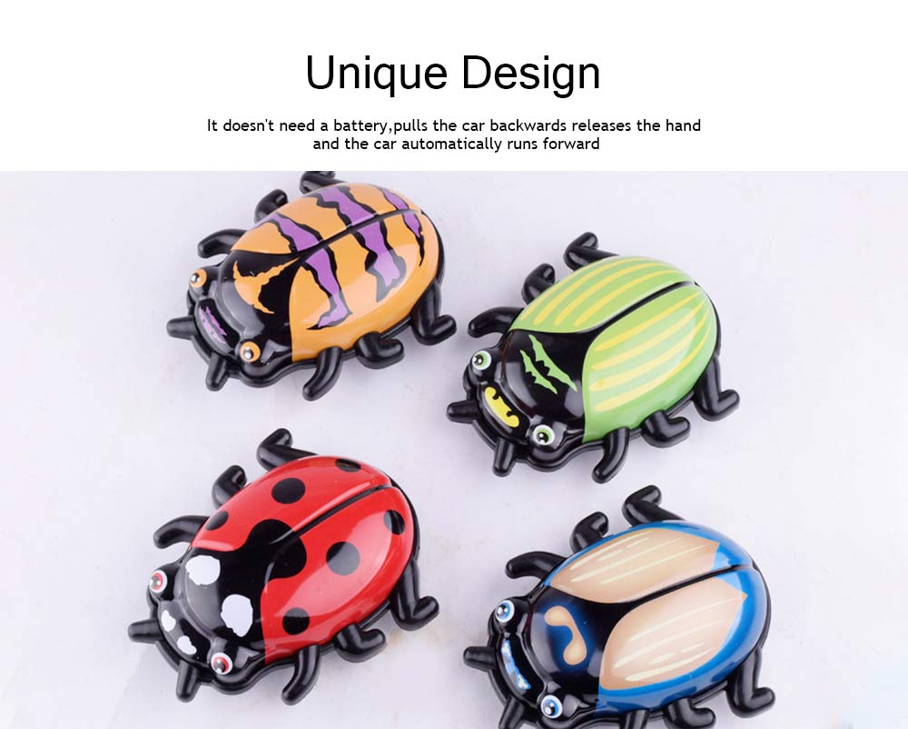 Children's Cartoon Alloy Beetle Inertia Car Small Toy, Creative Toy Car for Baby Over Three-years-old 4