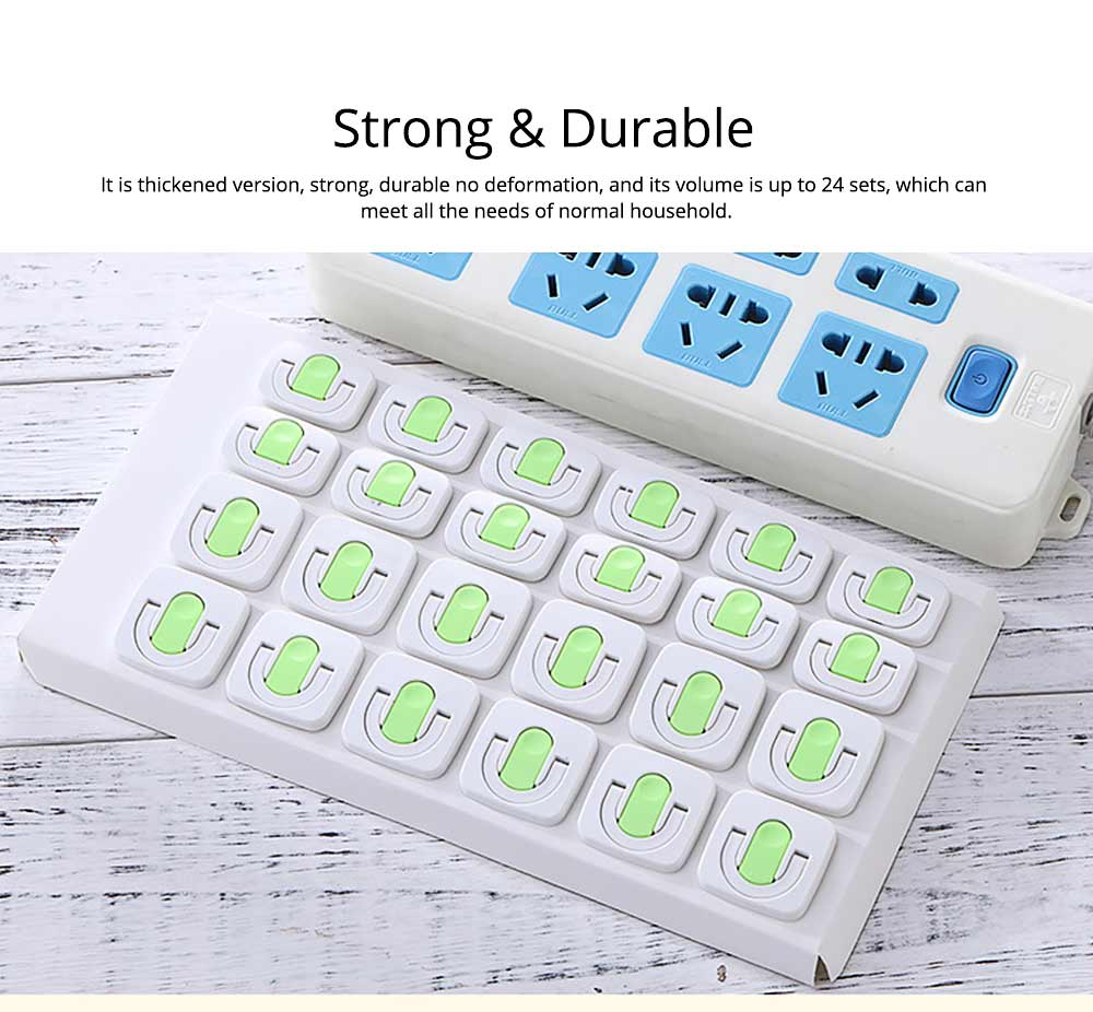 Child Safety Power Socket Insulation Cover, 2-phase 3-phase Anti-electric Shock Socket Protection Cover, 24PCS 5