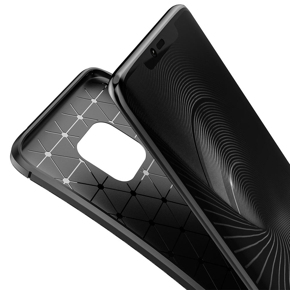 Spessn Carbon Fiber Cover Anti-Scratch Shockproof Skin Case for Huawei Mate 20 Pro, Mate 20 Classic Black Blue Brown 7
