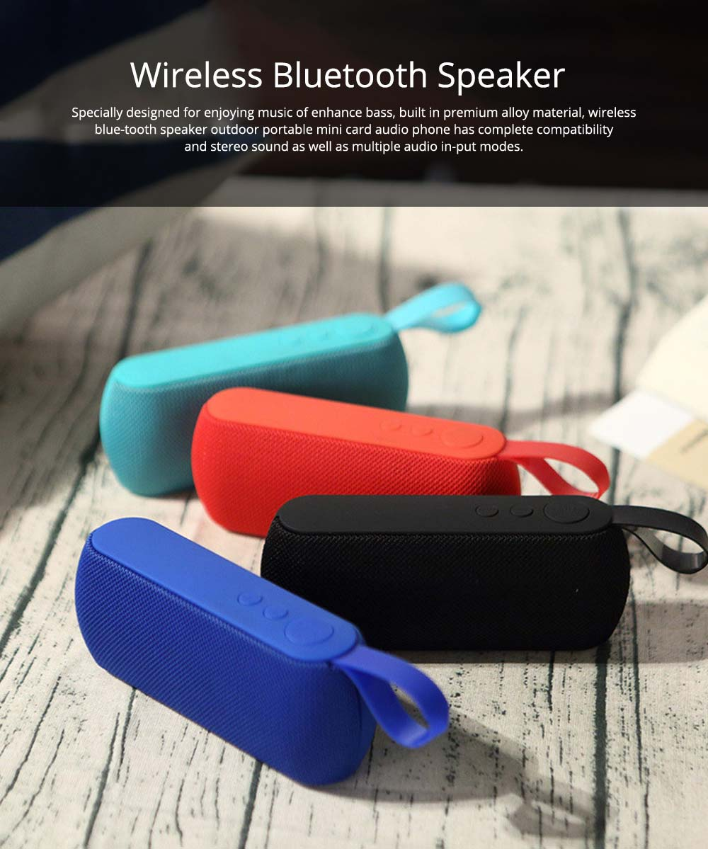 Mini Portable Subwoofer Wireless Bluetooth Speaker For iPhone iPad PC 0