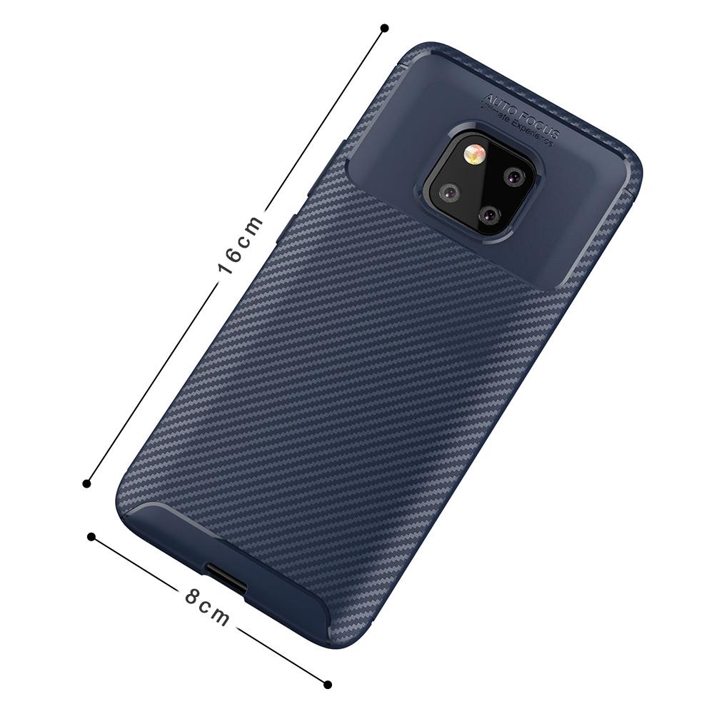 Spessn Carbon Fiber Cover Anti-Scratch Shockproof Skin Case for Huawei Mate 20 Pro, Mate 20 Classic Black Blue Brown 3