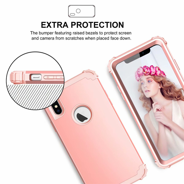 For Apple iPhone XS MAX Bumper Case Shockproof Hybrid Plain Back Slim Cover Shell for iPhone XS MAX 6.5'' 7 Colors ON SALE 1