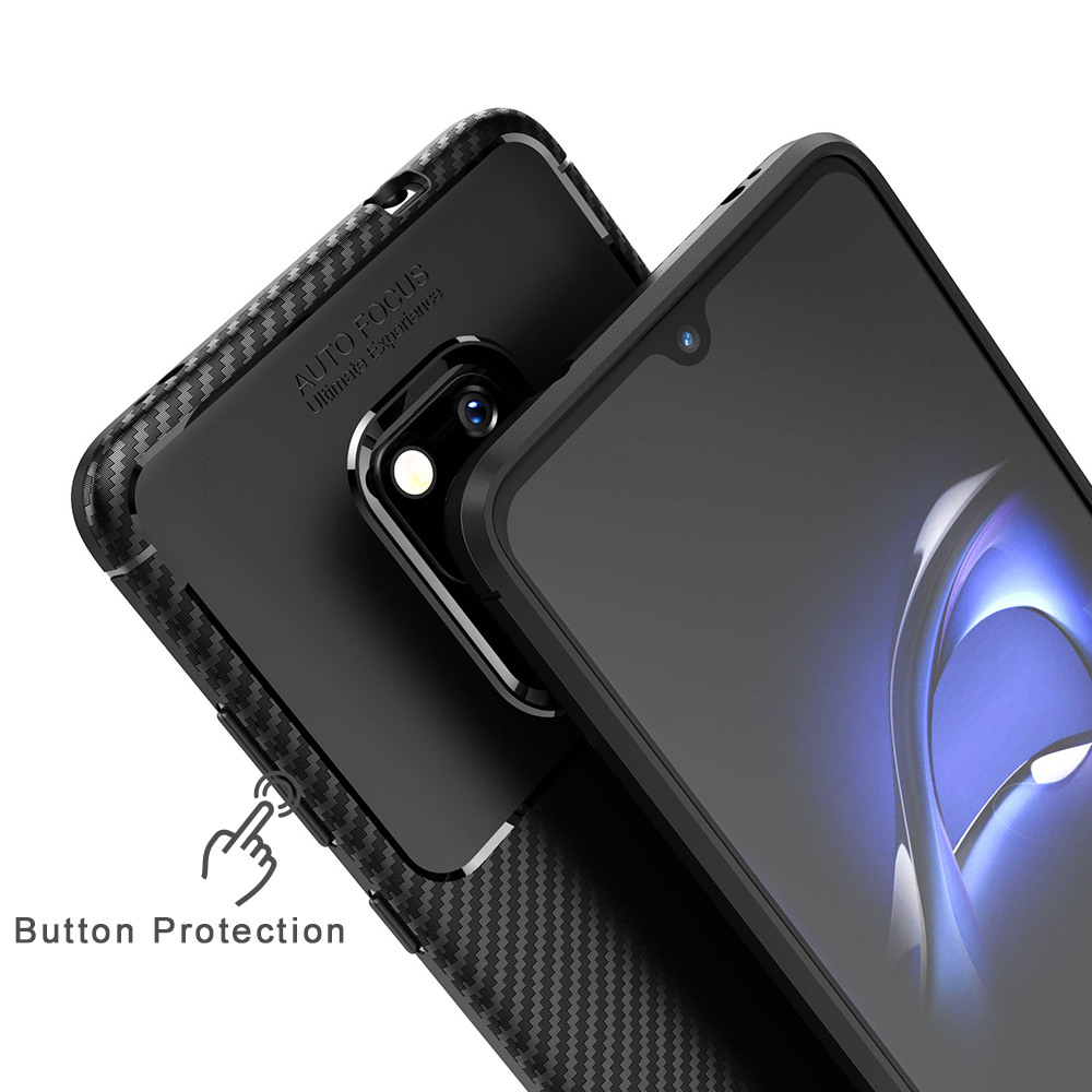 Spessn Carbon Fiber Cover Anti-Scratch Shockproof Skin Case for Huawei Mate 20 3 Colors On SALE 5