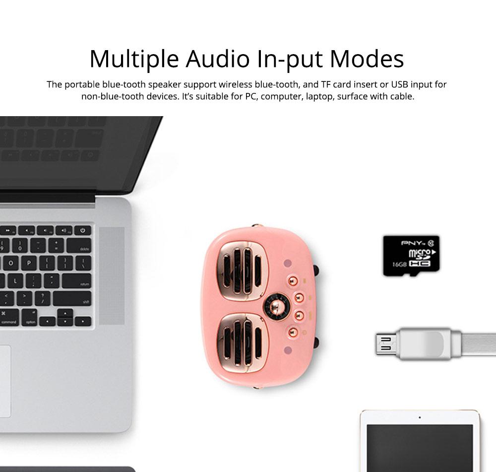 Creative Mini Portable Bluetooth Speaker With SD Card Slot, TF Card Insert Or USB Input 8