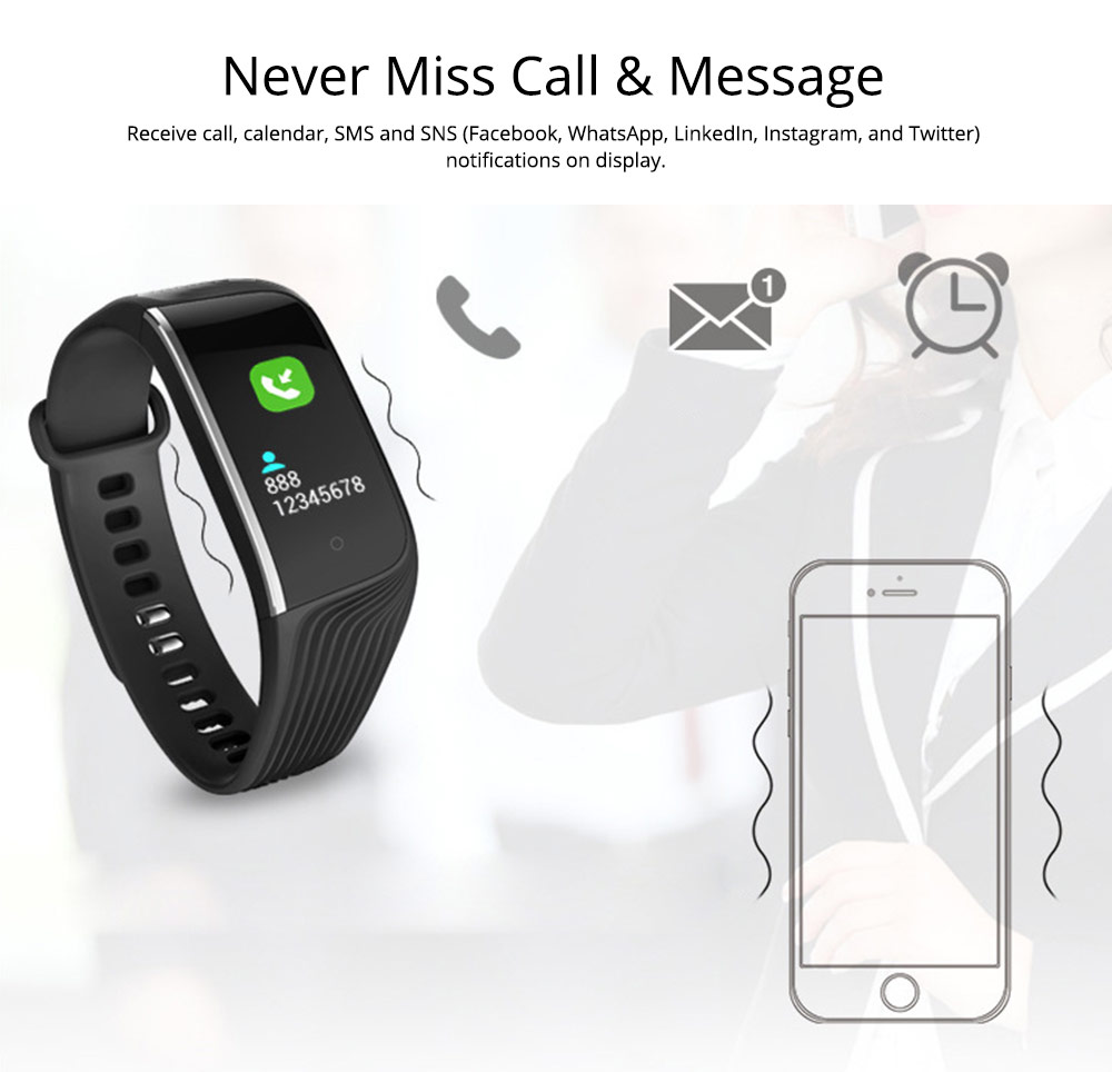 Smart Color Screen Sports Waterproof Bluetooth Stepping Fitness Tracker for Sleep Anti-lost Heart Rate Monitoring 6