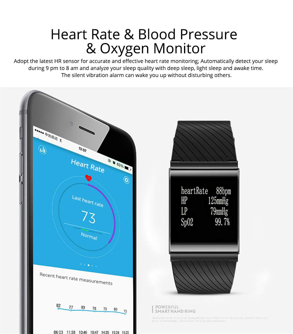 Fashion Exercise Bracelet Pedometer Fitness Tracker for Heart Rate Monitoring Blood Pressure 3