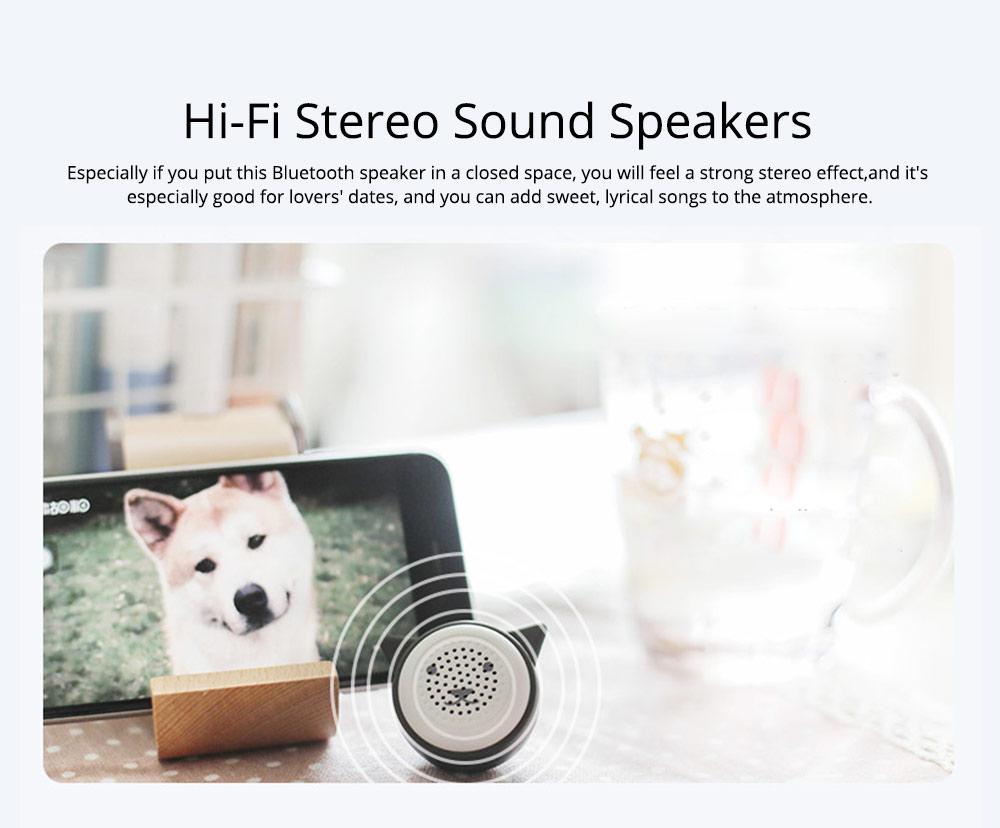 Universal Bluetooth Speaker, Mini Portable Creative Mobile Selfie Sounder for Gift 1