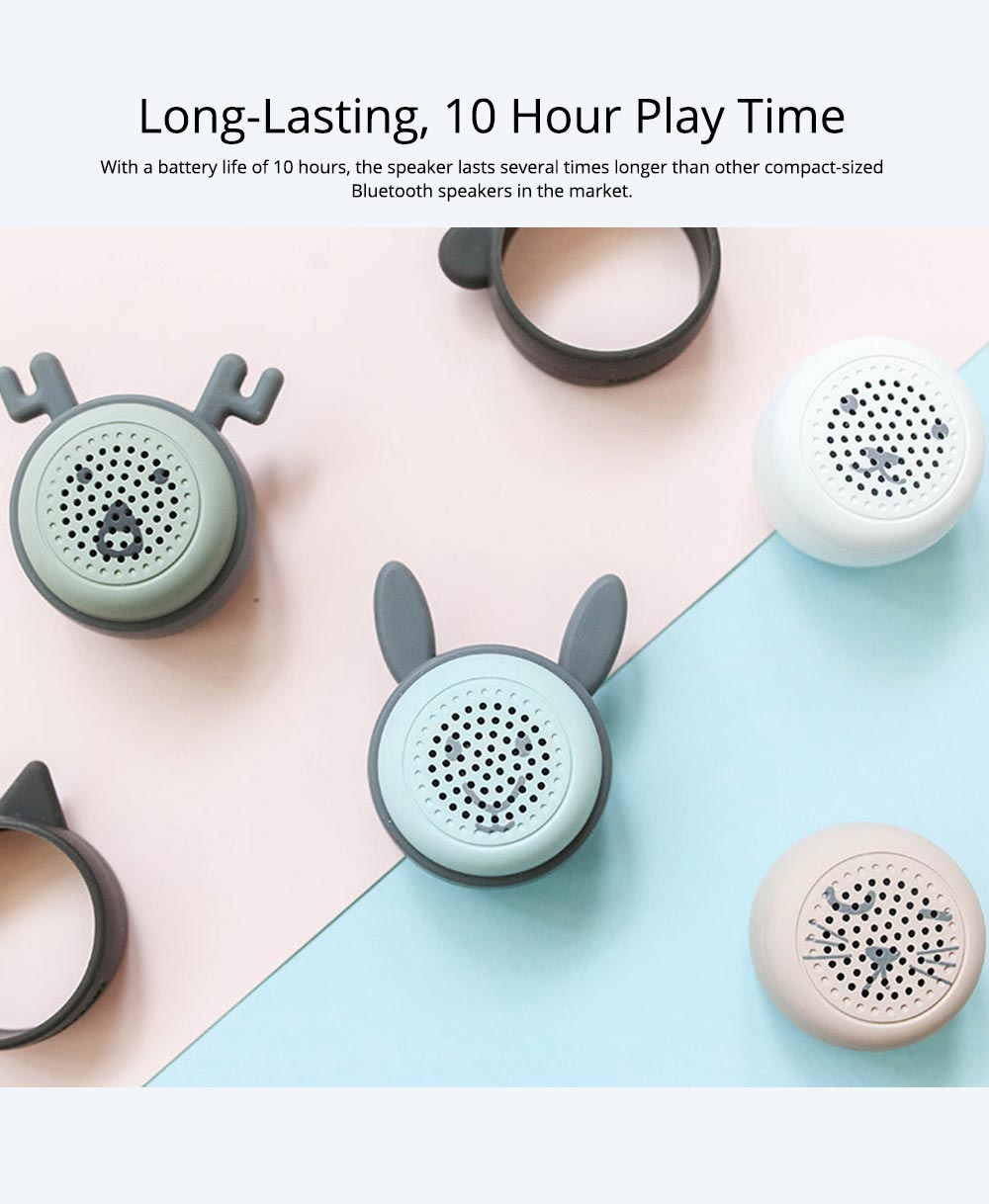 Universal Bluetooth Speaker, Mini Portable Creative Mobile Selfie Sounder for Gift 7
