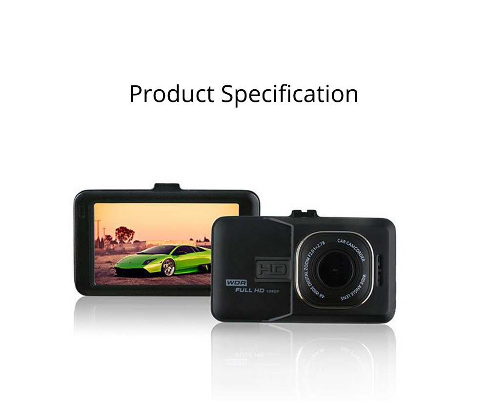 HD mini Car Recorder for Night Vision Wide-angle Driving, 3 inch Black Diamond  Driving Recorder 7